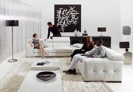 Ev Dekorasyon Örnekleri 2012'de Moda Olan Siyah Beyaz