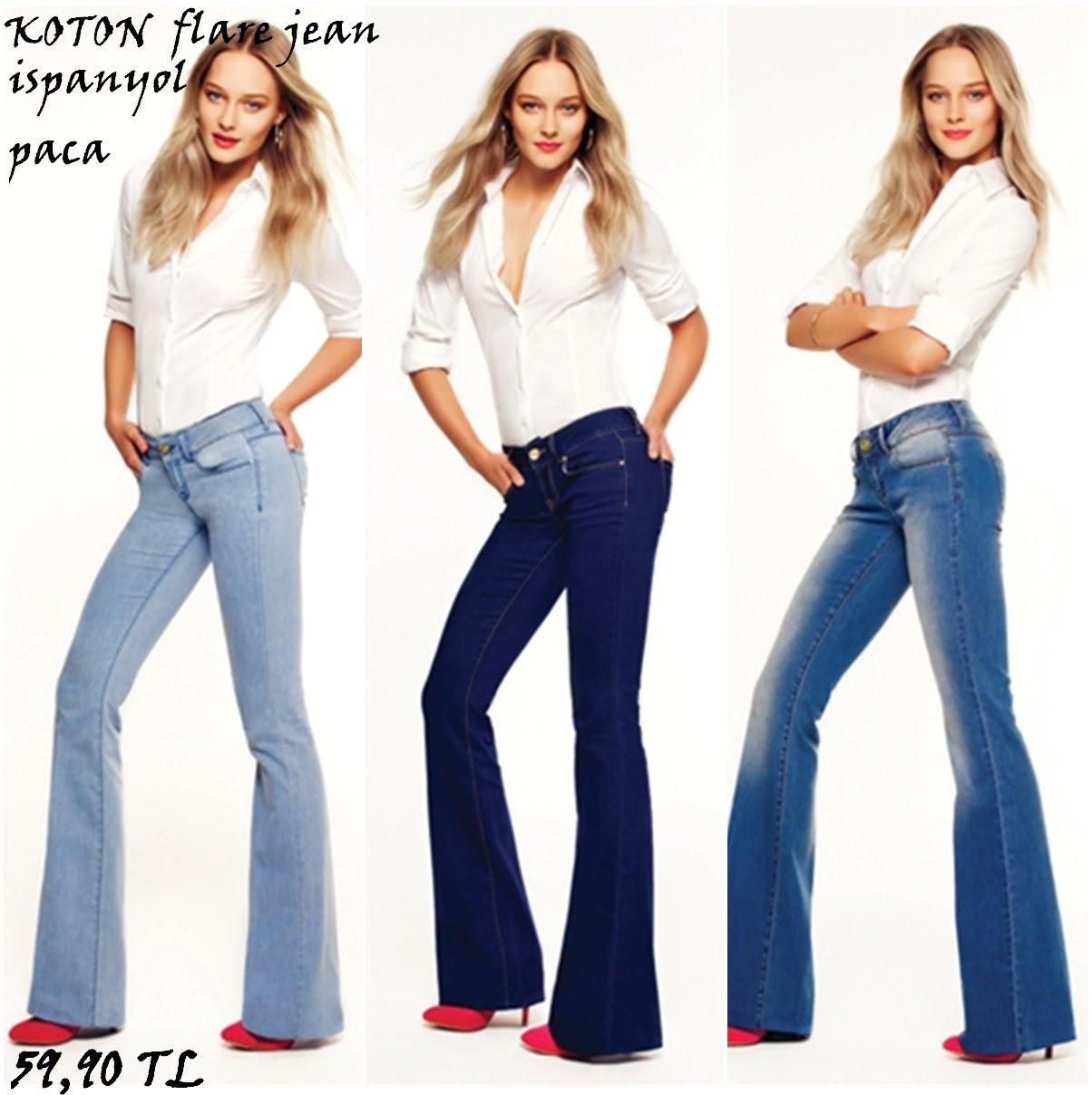 Moda İspanyol Paça Pantolon Örnekleri