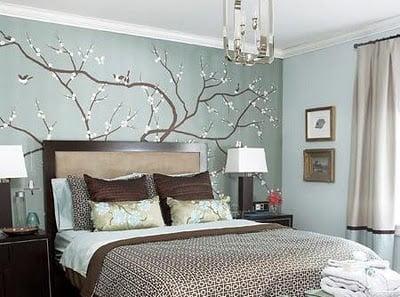 Yatak odası için duvar kağıdı modelleri
